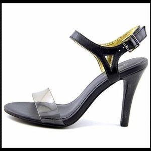 Seychelles Black Heeled Sandals